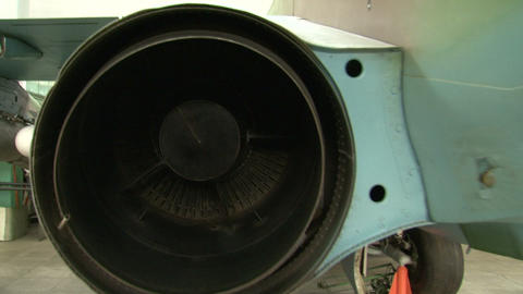 Turbojet Aircraft Engine stock footage