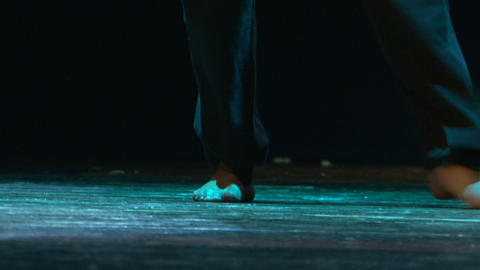 Step dance Stock Video Footage