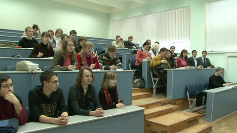 Students in the audience Stock Video Footage