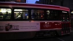 Toronto tram at night Footage