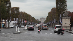 Paris traffic arch of triumph France Footage