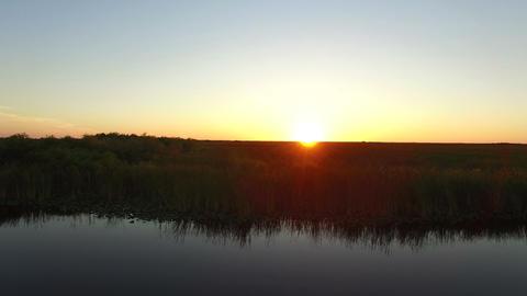 11 Everglades sunset FORWARD 4K Footage