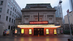 royal alexandra theatre with lights on in Toronto, Canada Footage