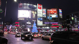 Yonge Street Shopping District In Toronto At Night stock footage
