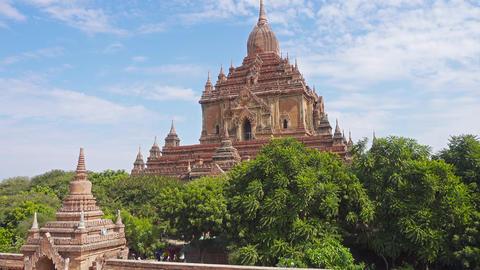 Htilominlo Pagoda (Paya) in Bagan, Myanmar Footage