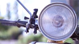 headlight of a vespa motorcycle Footage