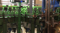 production line of glass beer bottles Footage