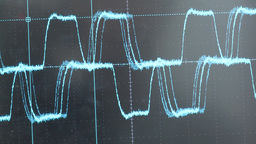 oscilloscope screen showing wave Footage
