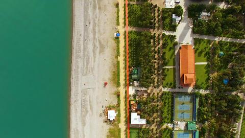Coastline in Batumi Georgia, seafront area with beach and azure sea, tourism Footage