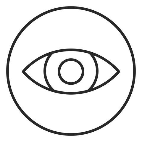 Eye stroke icon, logo illustration. Stroke high quality symbol フォト