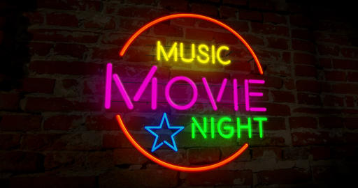 Music cinema night neon Animation