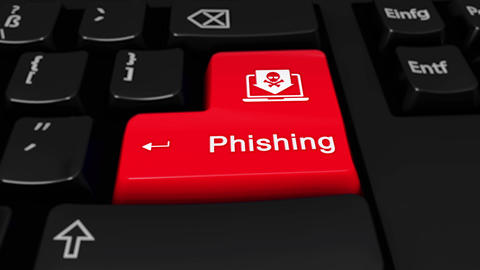 63. Phishing Round Motion On Computer Keyboard Button Live Action