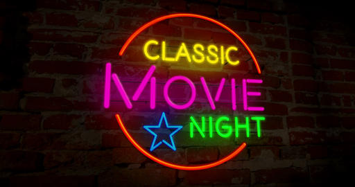 Classic cinema night neon Animation
