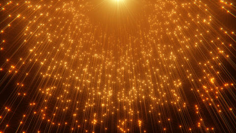 Golden Particles Background Animation