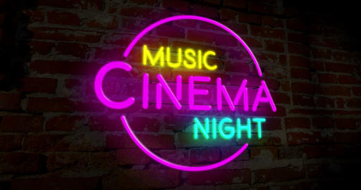 Neon music cinema night Animation