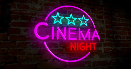 Neon cinema night Animation