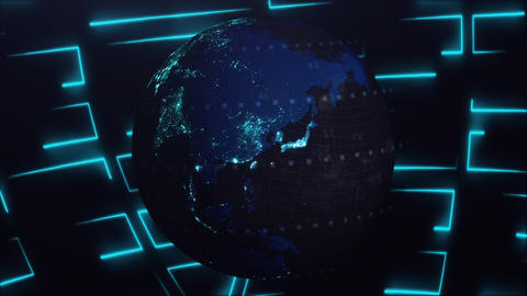 Cyber 3D Earth 2 CG動画素材