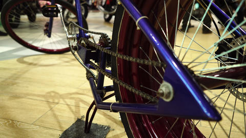 Creative converted a Bicycle spinning wheel Footage