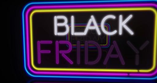 Black Friday neon flying Animation