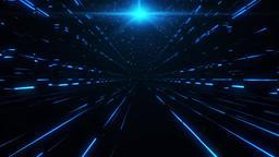 3D Blue Sci-Fi Tower of Babel Tunnel VJ Loop Background Animación