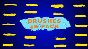Brushes Pack 4K / AE (CS5 5) Plantilla de After Effects