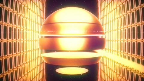Retro Striped Sun VJ Loop Animation