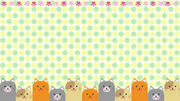 Cat moving polka dot Animation