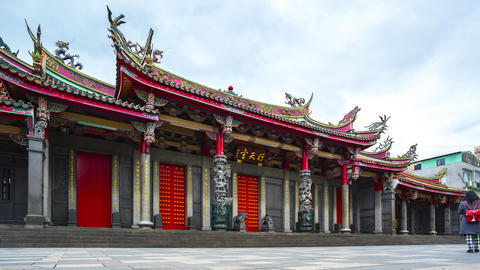 Time Lapse video of Xingtian Temple in Taipei, Taiwan timelapse Live Action
