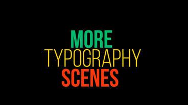 Kinetic Typography 애프터 이펙트 템플릿