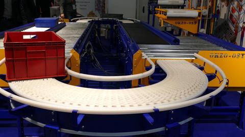 conveyor with empty box 영상물