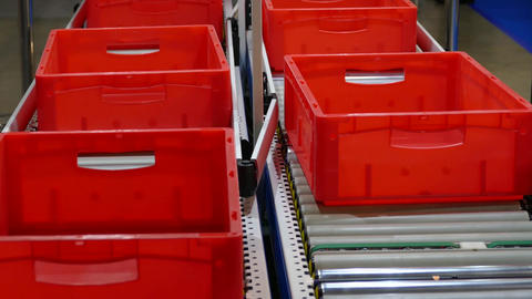conveyor with empty boxes Footage