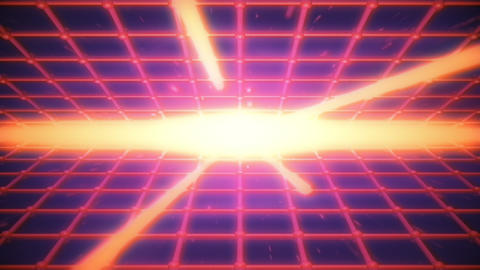 Retro Wave Shiny Grid VJ Loop Animation
