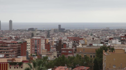 panoramic view of Barcelona on a cloudy day Footage