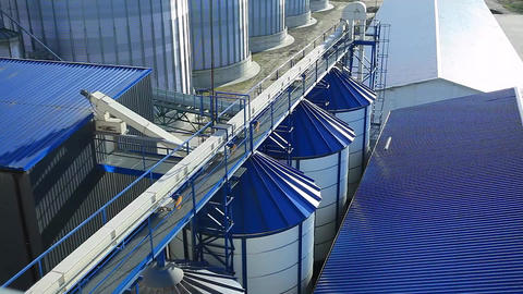 Tanks for the Storage of Grain Granary Footage