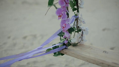Wedding Rings on Derevlany Swing with Flowers Footage