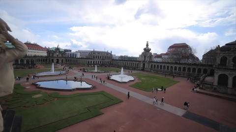 Old Masters Picture Gallery in Dresden Footage