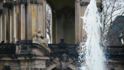 Fountain Dresdner Zwinger Spring Sunny Day Archivo