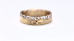 Turntable Wedding rings with Diamond. White Background Footage