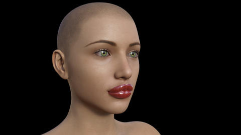 Face Girl, Morph Lips ,Plastic surgery, loop,animation,transparent background Live Action