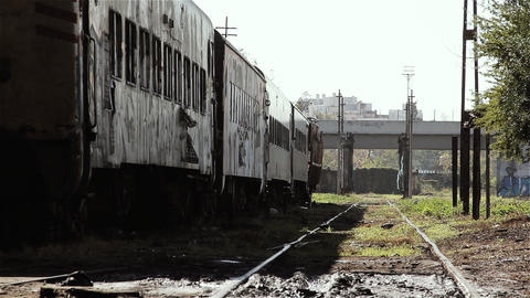 Abandoned Train In Buenos Aires Footage