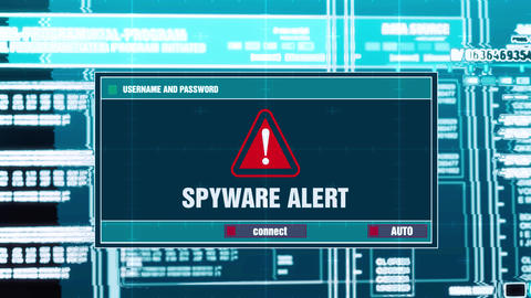 20. Spyware Alert Warning Notification on Digital Security Alert on Screen Footage