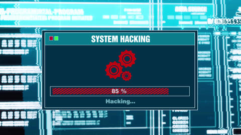 91. System Hacking Progress Warning Message System Hacked Alert On Screen Live Action