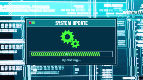 97. System Updating Progress Warning Message System Updated Alert On Screen Live Action