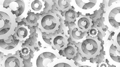 business concept head on white cogs background Animation