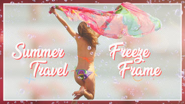 Summer travel freeze Frame Premiere Pro Template
