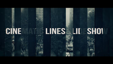 Cinematic Lines Slideshow Premiere Proテンプレート