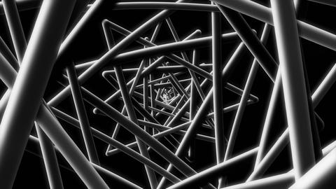 Black Wire - 4k Stylish Geometric Video Background Loop Animation