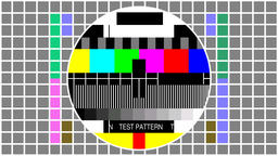Television screen color test pattern - Seamles loop GIF