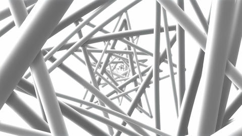 White Wire - Cool Geometric Video Background Loop Animation