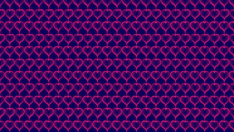 Abstract Line Love Heart shape rotate moving illustration pink color, valentine CG動画素材